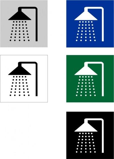 """Hinweisschild """"Dusche"""" Quadrat"""