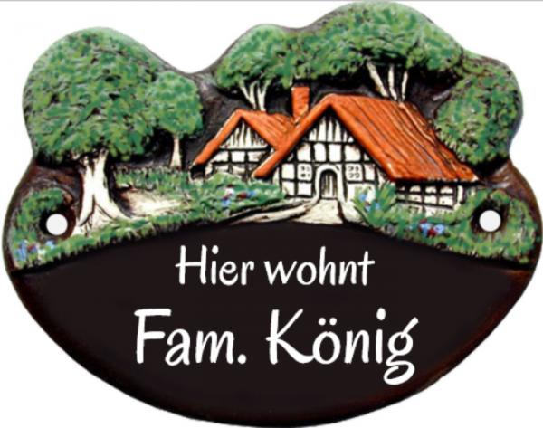 Türschild Klassik Art Landhaus 58