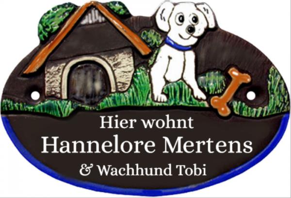 Türschild Landhaus Stil Hund