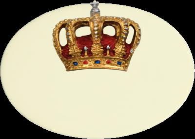 Zimmer Türschild Krone