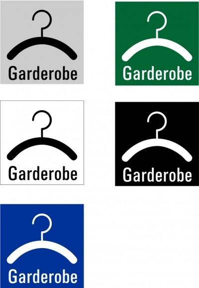 "Hinweisschild ""Garderobe"" Quadrat"