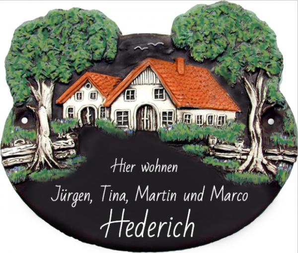 Türschild Klassik Art Landhaus 30