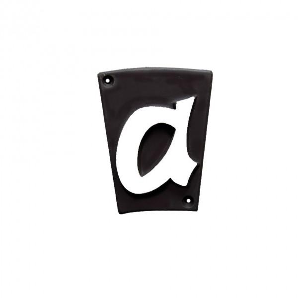 "Hausnummer ""a"" Keramik schwarzbraun"