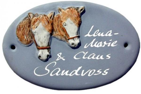 Türschild Klassik Art Pferde