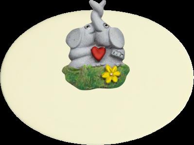 Zimmer Türschild Elefanten Herz