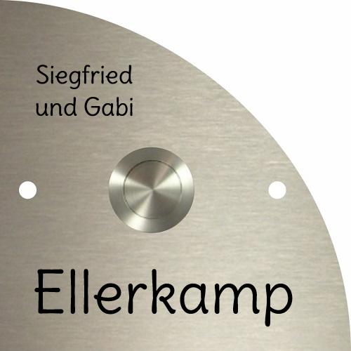 Türschild-Edelstahl ET57