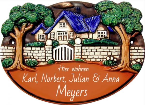 Türschild Landhaus Stil Landhaus