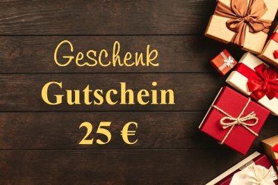 Gutschein im Wert von 25 €