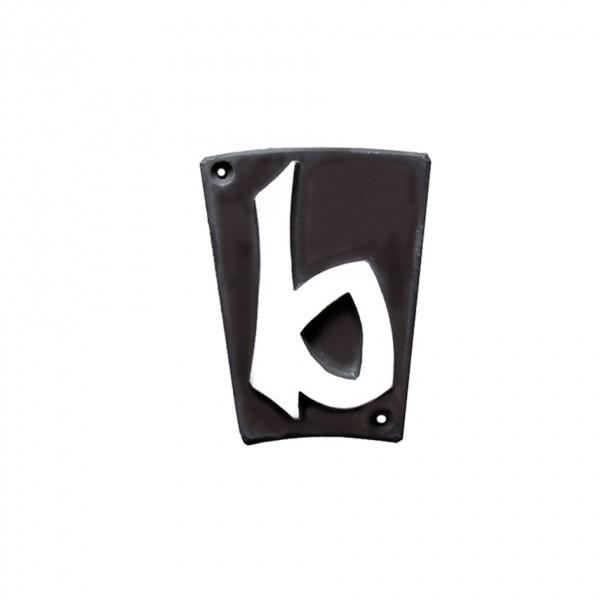 "Hausnummer ""b"" Keramik schwarzbraun"