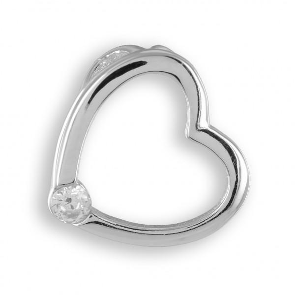Anhänger Herz Silber mit Stein