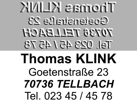 Ersatztextplatte Colop Printer 20
