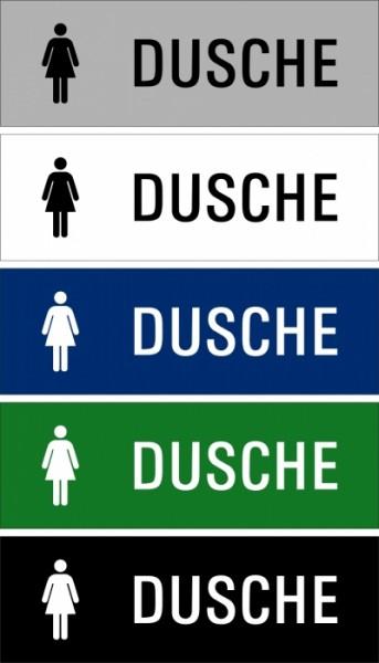 """Hinweisschild """"Dusche Damen"""