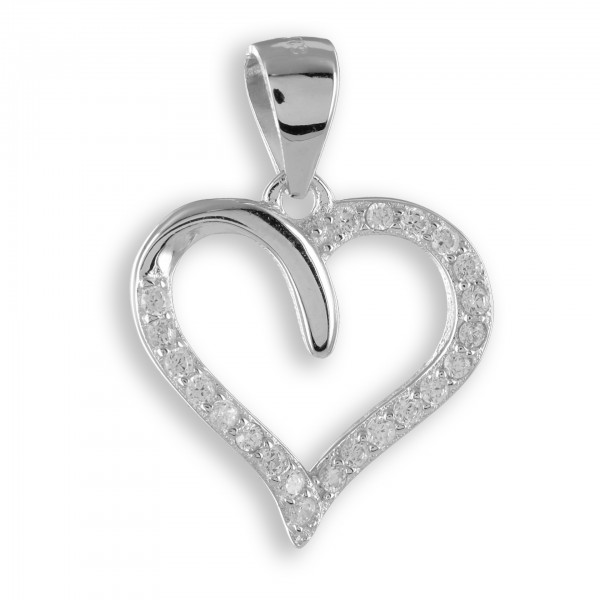 Anhänger Herz Silber mit Steine