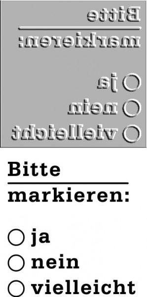 Ersatztextplatte Trodat Printy 4923