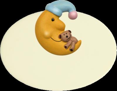 Kinderzimmerschild Mond