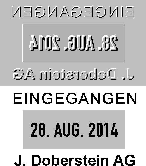 Ersatztextplatte Colop Printer Datumstempel 52-Dater