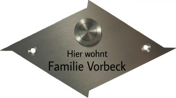 Türschild-Edelstahl ET22