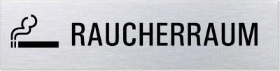 """Hinweisschild Edelstahl """"Raucherraum"""""""