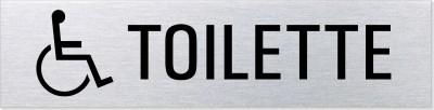 """Hinweisschild Edelstahl """"Behinderten Toilette"""""""