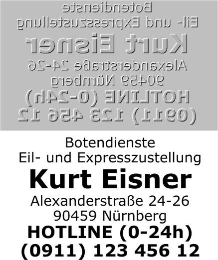 Ersatztextplatte Trodat Printy 4927
