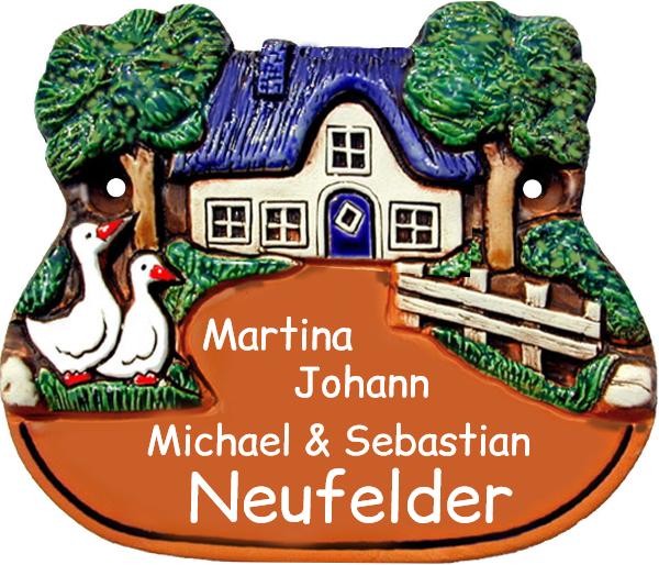 Türschild Landhaus Stil Gänse